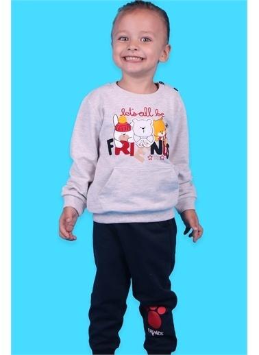 Breeze Erkek Çocuk Eşofman Takımı Üç Ayıcık Baskılı Bej (1-4 Yaş) Bej